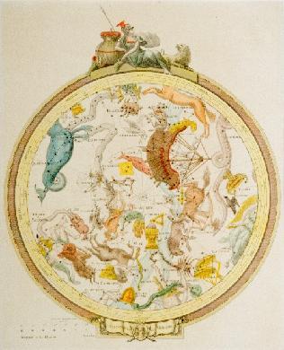 Planisferio. Hemisferio meridional. - Gravado