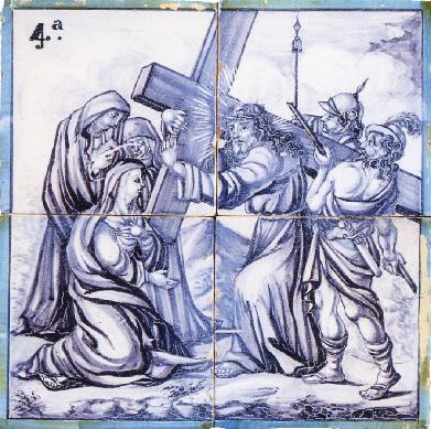 Estación de Vía Crucis - Panel de azulejos | Miralles, Vicente (A ...