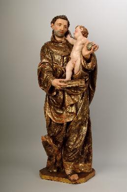 San Antonio de Padua con el Niño - Escultura de bulto redondo