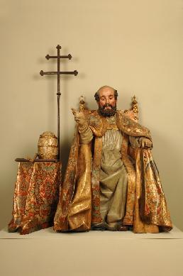San Pedro en Cátedra - Escultura de bulto redondo