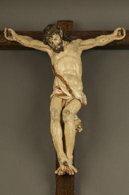 Cristo crucificado - Escultura de bulto redondo