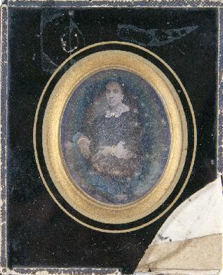 Retrato femenino sentado - Daguerrotipo