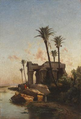 Paisaje egipcio - Cuadro