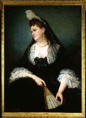 Image from object titled Retrato de Madame Anselma - Cuadro