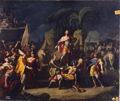 Proclamación de Pelayo como rey de Asturias - Cuadro