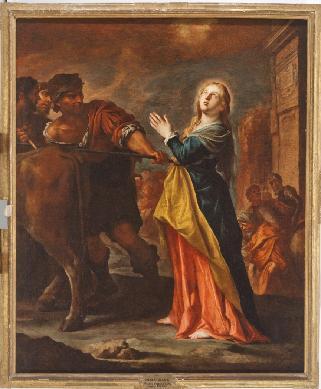 Santa Lucia preparándose al martirio - Cuadro