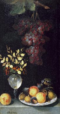 Florero y frutero - Cuadro