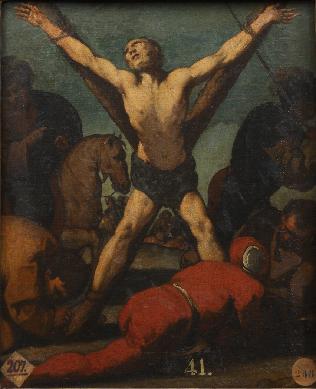 Martirio de San Andrés - Cuadro