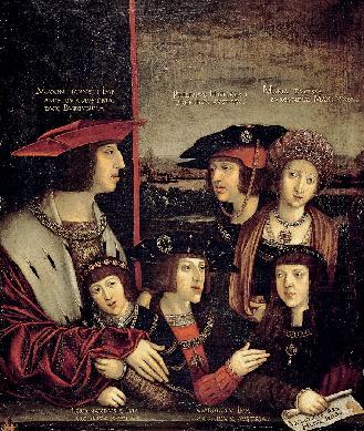 El emperador Maximiliano y su familia - Cuadro