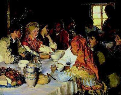 Comida de boda en Bergantiños - Cuadro