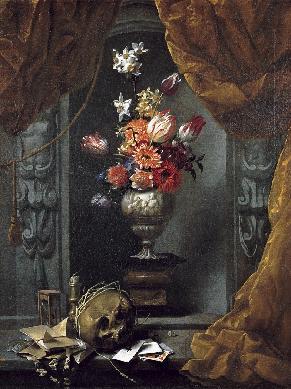 Bodegón de vanitas con florero - Cuadro