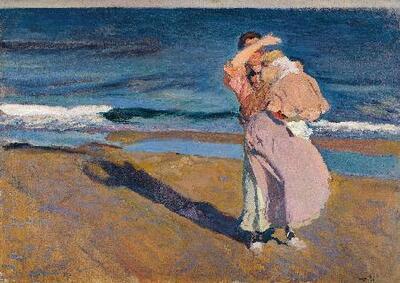 Image from object titled Pescadora con su hijo, Valencia - Cuadro