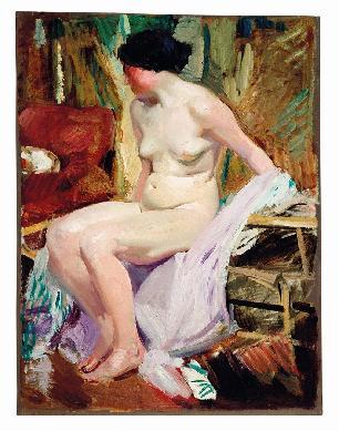 Desnudo De Mujer Cuadro Sorolla Bastida Joaquín Lugar De