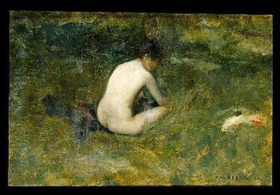 Desnudo en el campo - Cuadro