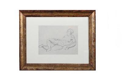 Femme couchée - Dibujo