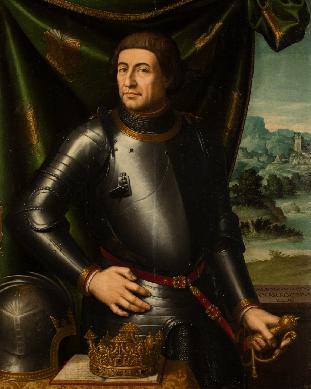 Retrato del monarca Alfonso V, rey de Aragón - Cuadro