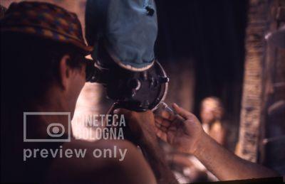 Pier Paolo Pasolini. Il fiore delle mille e una notte. 1974 / Nord Yemen, Taizz, Pier Paolo Pasolini gira