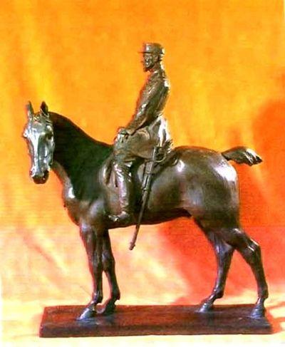 Regele Carol I al României - ecvestră