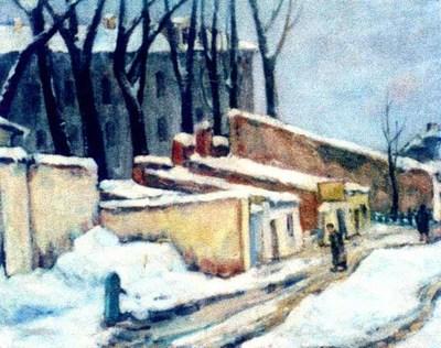 Peisaj de iarnă (Curte în Calea Victoriei)