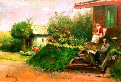 Lectură pe terasă