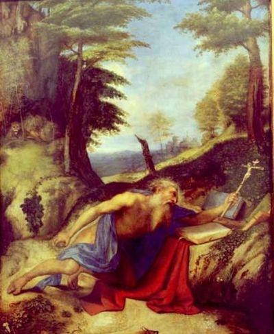 Sfântul Ieronim în meditație