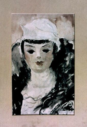 """Portret de tânără cu beretă """"bob"""""""