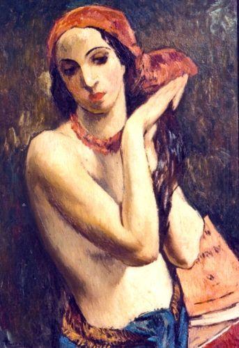 Figură cu turban roșu