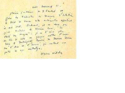 Scrisoare a lui Oscar Wilde