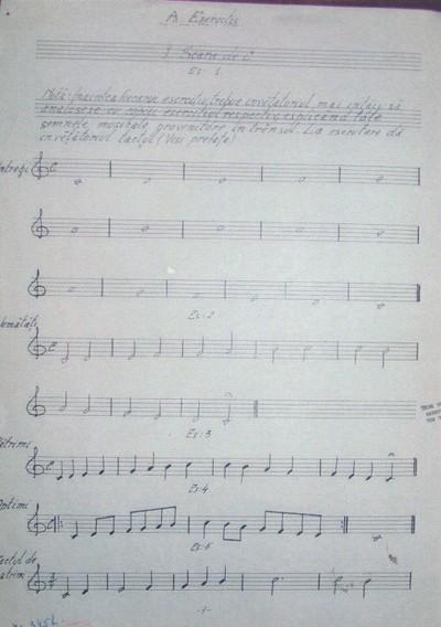 Elementele musicei vocale pentru școalele poprale și normale / după o metodă catehetică / cu un apendice de exerciții, cântări lumesci și imnuri bisericești