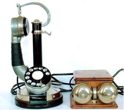 Image from object titled Telefon de birou cu baterie centrală transformat în automat