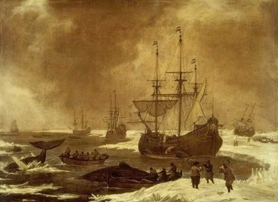 Walvisvangst door een Rotterdamse walvisvaarder