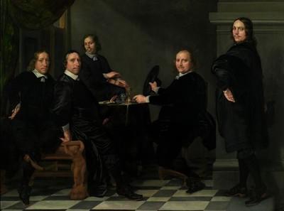 Portret van regenten en rentmeester van het Heiligegeesthuis te Rotterdam