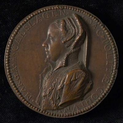 Eenzijdige penning op Margaretha van Kalslagen, echtgenote van Jochem Polites