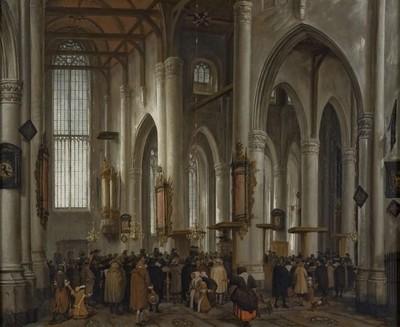 Interieur van de Laurenskerk te Rotterdam