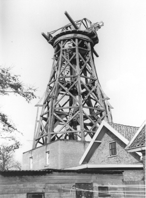 Image from object titled Molen De Ster in herbouw in 1968.