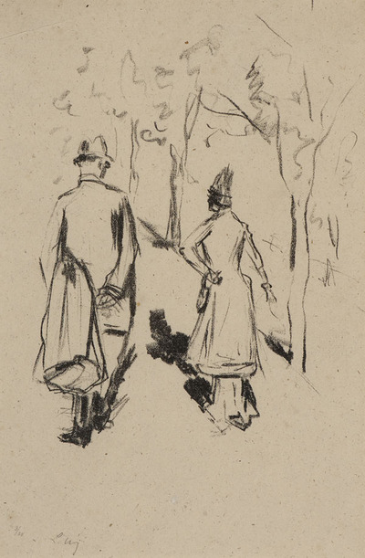 Two Figures in a Park
