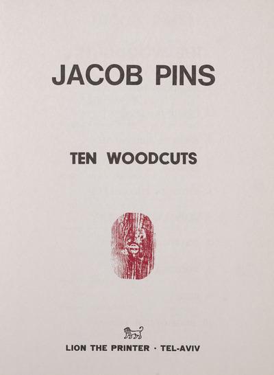 Ten Woodcuts Portfolio, title page