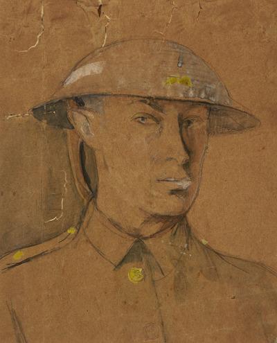 Self-Portrait in Steel Helmet