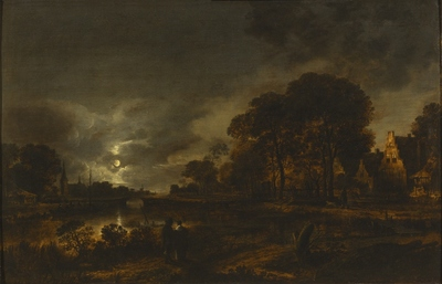 Image from object titled Moonlight Landscape