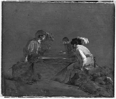 A Peasant and Two Soldiers Playing Dice