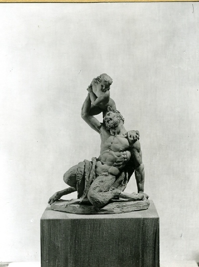 Faun Playing with a Cupid