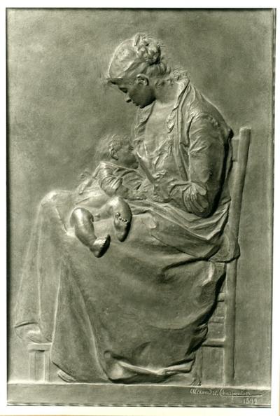 Mor ammande sitt barn (Jeune Femme allaitant son Enfant) (1892)