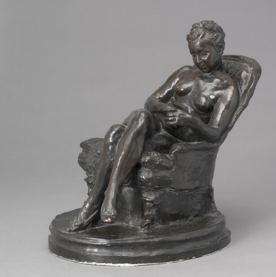 Nude Woman Reading in an Armchair