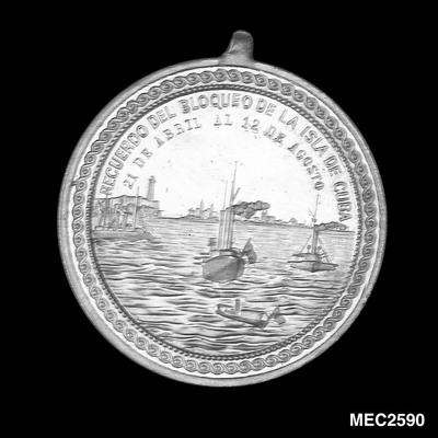 Medal commemorating the blockade of Cuba, 1898