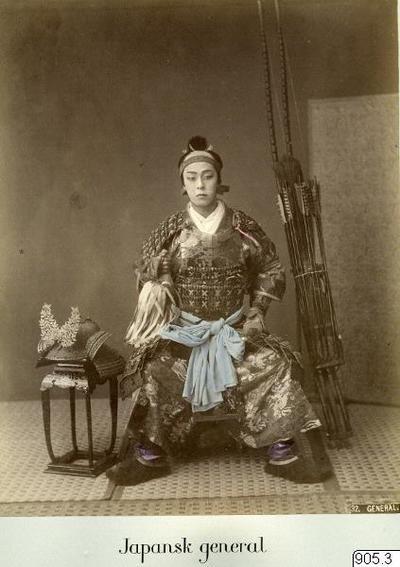 samuraj, pilar, plibågar, man, fotografi, photograph