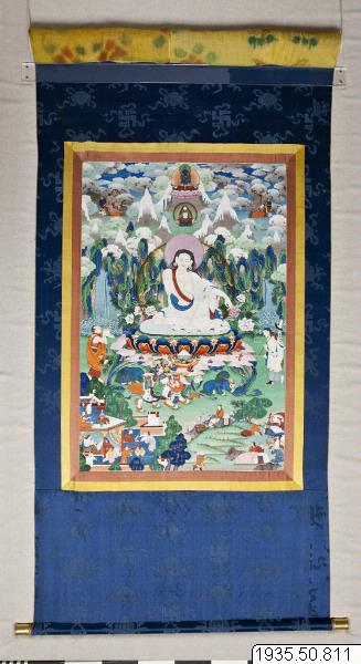 Image from object titled bildrulle, thangka, thanka