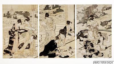 Träsnitt triptych, Bildkonst, Woodcut, Print