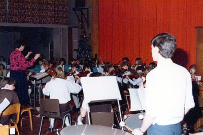 The Park High School orchestra.