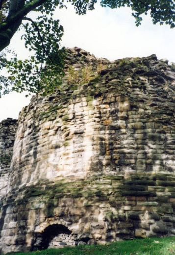 The keep at Pontefract Castle.