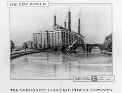 Image from object titled Photograph of a page from the commemorative booklet for the opening of Ferrybridge A Power Station in 1927.